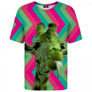 Mr. Gugu & Miss Go Green Giraffe Unisex Short Sleeved T Shirt TSH186