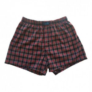 Lord Popline Loose Boxer Shorts Underwear Red 7110