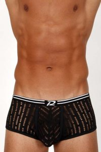 Pistol Pete Razor Trunk Underwear Black UT438-524