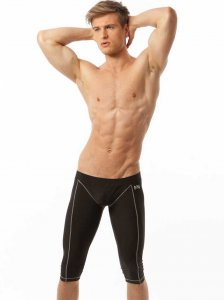 N2N Bodywear Tritech Runner 3/4 Pants Black TT2