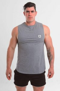 Twotags Charge Muscle Top T Shirt Charcoal