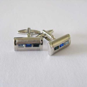 Distino Of Melbourne Blu Trio Cufflinks C98