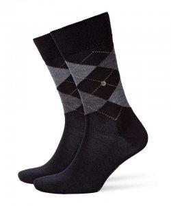 Burlington Edinburgh Socks Black 21182