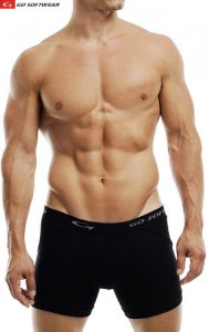 Go Softwear M Padded Butt Boxer Brief Underwear Black 2733M
