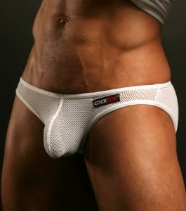 Cocksox Mesh Brief Underwear White CX01ME