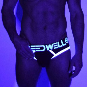 Breedwell Blacklight Circuit Brief Underwear White BW01522