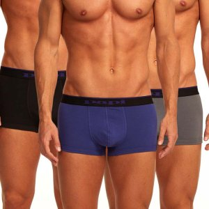 Papi [3 Pack] Cotton Stretch Brazilian Trunk Underwear Purple 980501