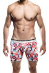 MaleBasics Hipster Boxer Brief Underwear Red Pixels MB202