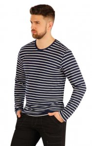 Litex Stripe Long Sleeved T Shirt 54160