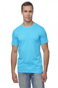 Royal Apparel Unisex Organic Short Sleeved T Shirt Scuba Blue 5051ORG