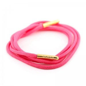 Bondi Laces Dress Laces Cockatoo Pink / Gold Tips DRESPI2G