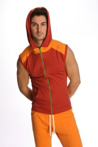 4-rth Yoga Hoodie Sleeveless Sweater Cinnabar