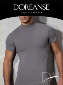 Clearance Doreanse Plain Short Sleeved T Shirt Smoke 2730