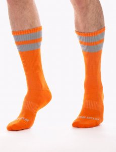 Barcode Berlin [3 Pack] Gym Socks Neon Orange/Grey 91366-491