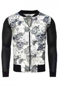 Carisma Skull Long Sleeved Jacket 7911-1 CRSM 5068 Sweater Black