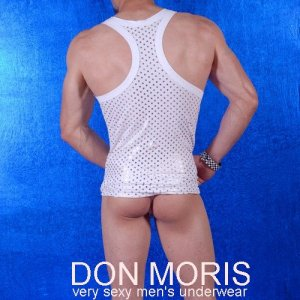 Don Moris Polka Dots Tank Top T Shirt DM080840