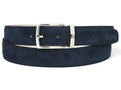 Paul Parkman Belt Navy Suede B06-NAVY
