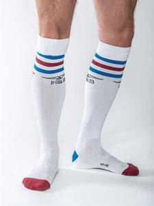 Mister B Urban Gym Pocket Socks White/Red/Blue 820190