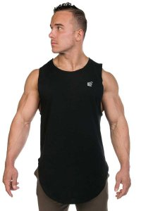 Jed North Luxe Flex Muscle Top T Shirt Black TANK008