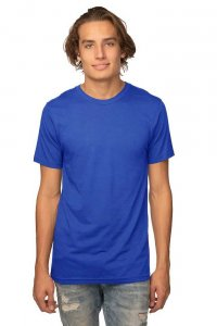 Royal Apparel Unisex Viscose Bamboo Organic Cotton Short Sleeved T Shirt Sapphire 73051