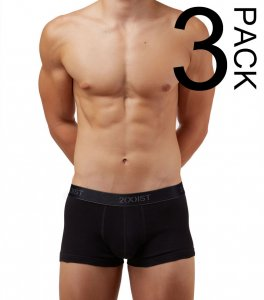 2(x)ist [3 Pack] Cotton No Show Trunk Boxer Brief Underwear ...