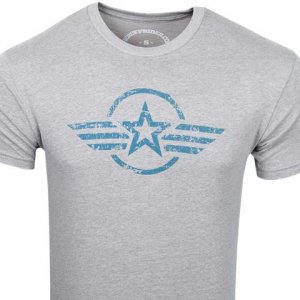 Ruff Riders The Admiral Short Sleeved T Shirt Light Grey