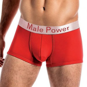 Male Power Modal Basics Lo Rise Enhancer Shorts Boxer Brief Underwear Red 150-227