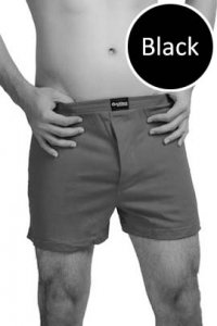 Nukleus Heart Collection The Caring Heart Loose Boxer Shorts Underwear Black N-UE-07