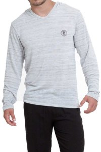 L'Homme Invisible Freedom Long Sleeved Hoodies Sweater Grey HW136-LOU-GC1