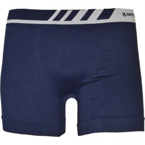 Lupo Seamless Microfiber Boxer Brief Underwear Navy Blue 671-2