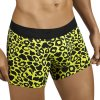 Candyman Leopard Boxer Brief Underwear Yellow 9640