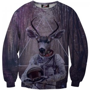 Mr. Gugu & Miss Go Astrodeer Unisex Sweater S-PC088