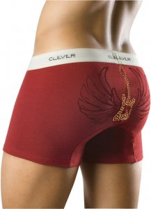 Clever Flying Guitar Boxer Brief Maroon Underwear 0176 USA1