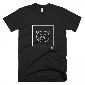 WildmanT Happy Pig Short Sleeved T Shirt