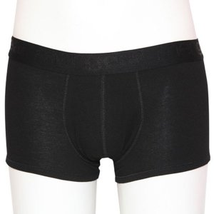 Minerva [2 Pack] Basic Trunk Meng Boxer Brief Underwear Black 20519