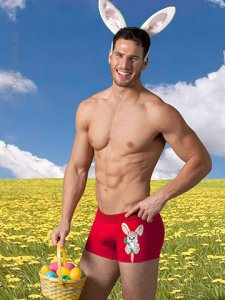 Doreanse Bunny Boxer Brief Underwear Red 1830