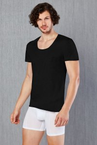 Doreanse Solid Short Sleeved T Shirt Black 2525