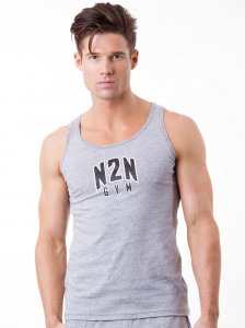 N2N Bodywear Basic Gym Tank Top T Shirt Heather BG3