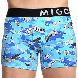 MIGO Snorkeling Boxer Brief Underwear Blue