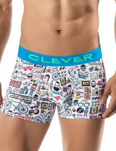 Clever Hipster Boxer Brief Underwear White 2235