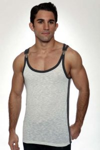 Pistol Pete Nexus Tank Top T Shirt Ivory TK113-422