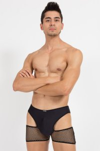 Lookme Crossroads Boxer Brief Underwear Black 46-67