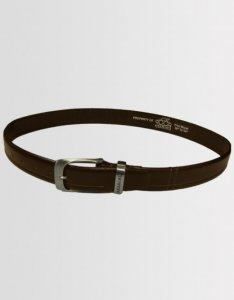 Kear&Ku Quilted Leather Belt Brown