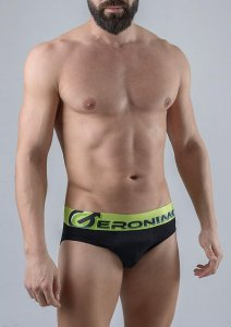 Geronimo Slip Brief Underwear Black 1765S2