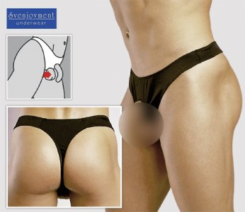 Svenjoyment Showcase Lifter Thong Underwear Black 2110270