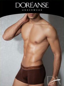 Doreanse Solid Boxer Brief Underwear Brown 1773