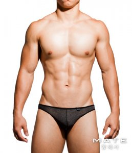 Mategear Kyeong In Cotton Very Sexy Nano Thong Underwear Black TH201101