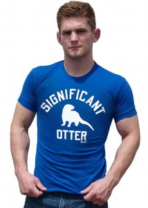 Ajaxx63 Significant Otter Athletic Fit Short Sleeved T Shirt...