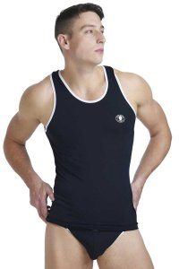 L'Homme Invisible Xtreme Singlet Tank Top T Shirt Black MY43-EXT-001