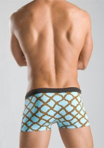Geronimo Square Cut Trunk Swimwear White 1014b2